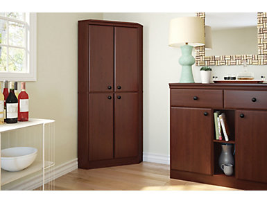 Willa 4 Door Armoire, Brown, large