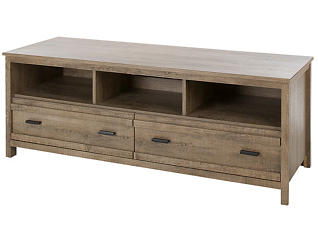 Gracie Weathered Oak TV Stand, Brown, large