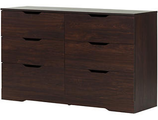 Holland Brown 6-Drawer Dresser, , large
