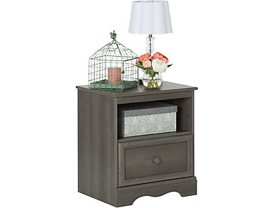 Savannah Gray Maple Nightstand, , large