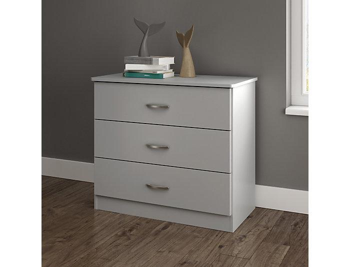Libra Gray 3-Drawer Chest, , large