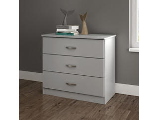 Libra Gray 3-Drawer Chest, , large