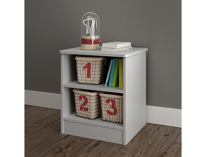 Libra Gray Storage Nightstand, , large