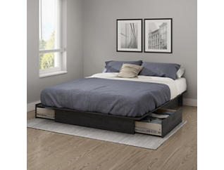 Step 1 Queen Gray Platform Bed, , large