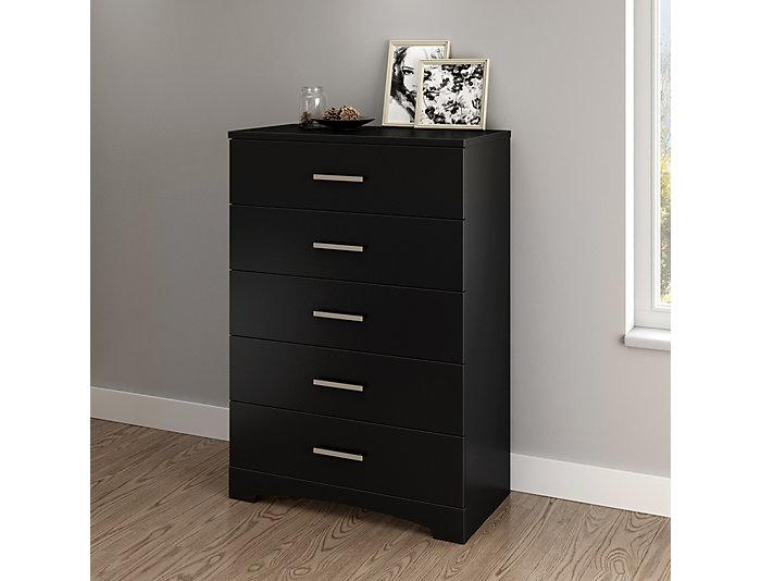 Gramercy Black 5-Drawer Chest, , large