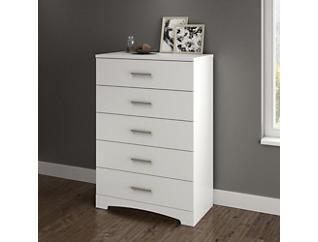 Gramercy White 5-Drawer Chest, , large
