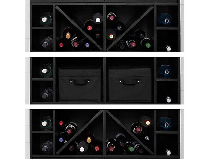 Black Bar With Bottle Storage, , large