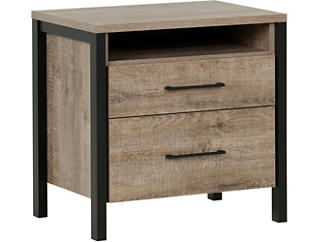 Munich Oak / Black Nightstand, , large