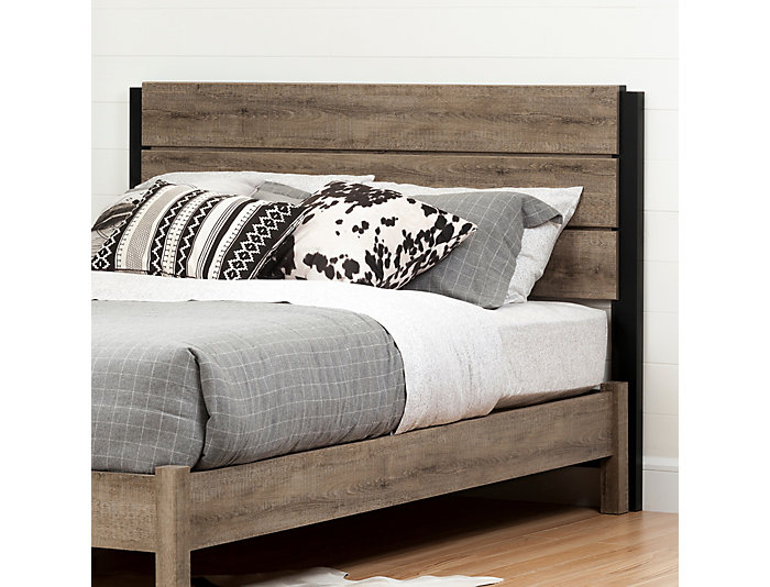 Munich Queen Oak Headboard, , large