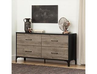 Valet Oak 4 Drawer Dresser, , large