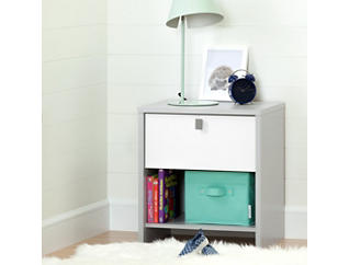 Cookie Gray and White Nightstand, , large