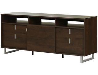 """Lawrence 61"""" Brown TV Stand, , large"""
