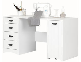 Artwork White Sewing Table, , large