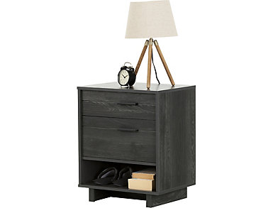 Fynn Gray Oak Nightstand, , large