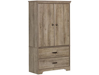 Versa Weathered Oak Armoire, , large