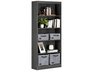"Axess 69"" Smoke Bookcase, , large"