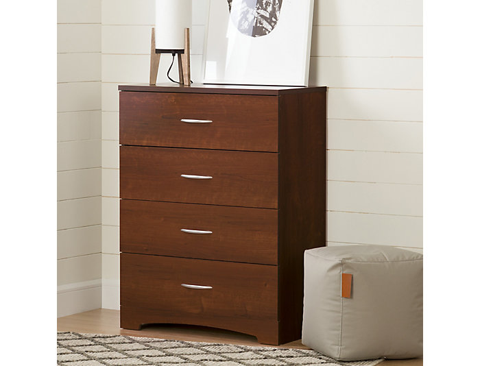 Step 1 Cherry 4-Drawer Chest, , large
