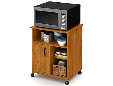 Axess Pine Microwave Cart, , large