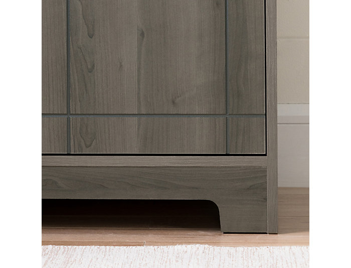 Vietti Gray Maple Bar Cabinet, , large