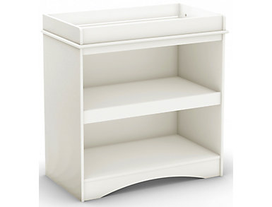 White Open Changing Table, , large
