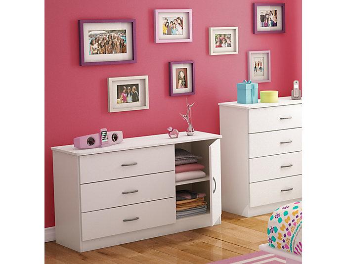 Libra White 3-Drawer Dresser, , large