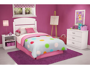 Libra Twin 3 Piece Bedroom, White, large
