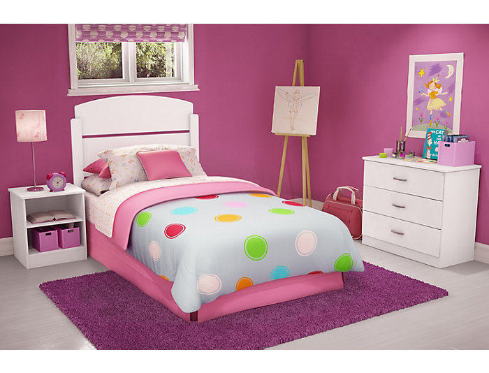 Libra White Twin 3PC Bedroom, , large