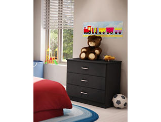 Libra Black 3-Drawer Chest, , large