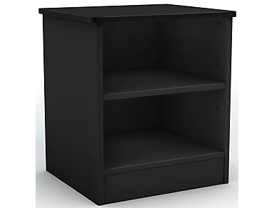 Libra Black Nightstand, , large