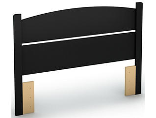 Libra Black Full Headboard, , large