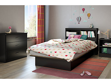 Libra Black Twin Headboard, , large