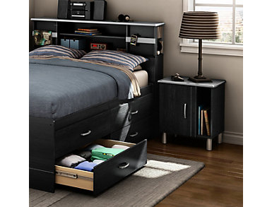 Cosmos Black Nightstand, , large