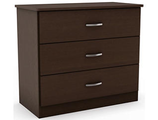 Libra Chocolate 3-Drawer Chest, , large