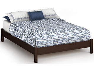 Step 1 Full Brown Platform Bed, , large
