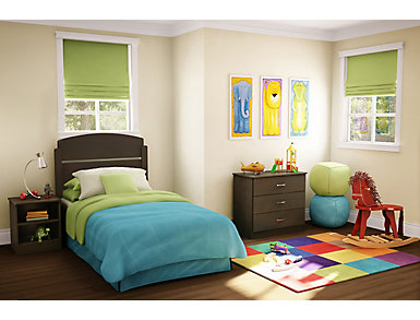 Libra Brown Twin 3PC Bedroom, , large