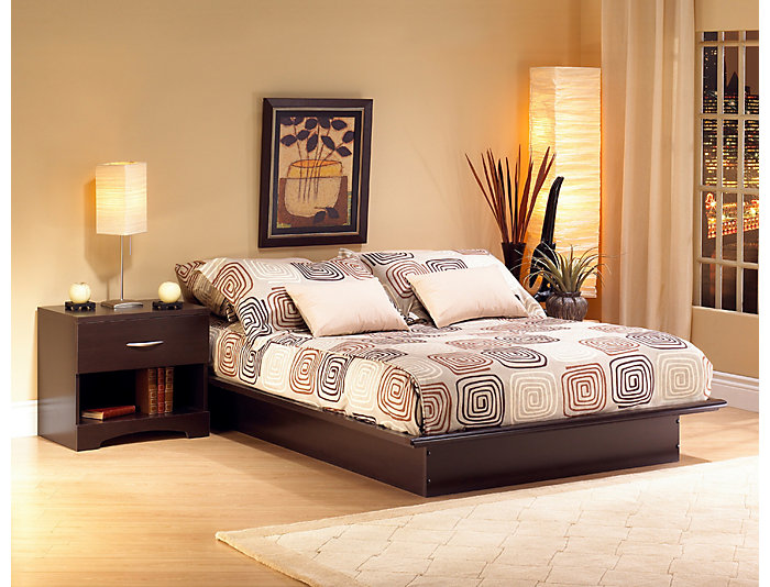Step 1 Queen Brown Bed, , large