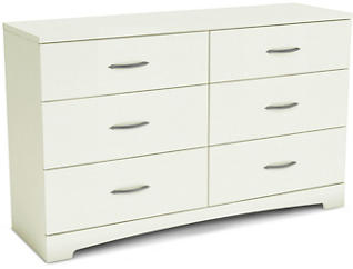 Step 1 White 6-Drawer Dresser, , large