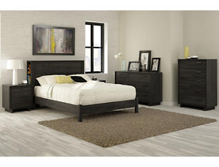 Fynn Gray Full Platform Bed, , large