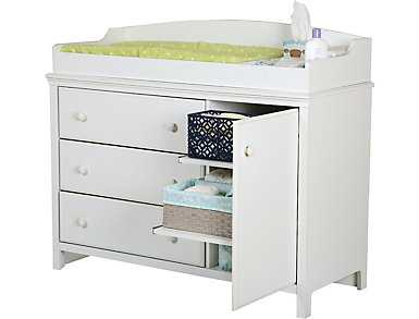 Candy White Changing Table, , large