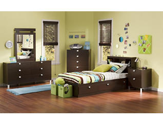 Spark Twin Chocolate Mates Bed, , large