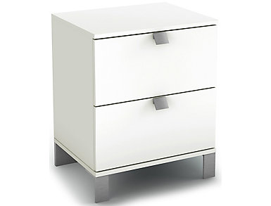 Spark White Nightstand, , large