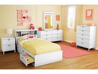 Spark White Twin Mates Bed, , large
