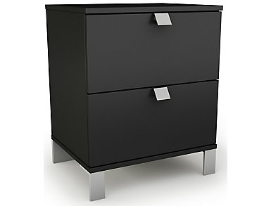 Spark Black Nightstand, , large