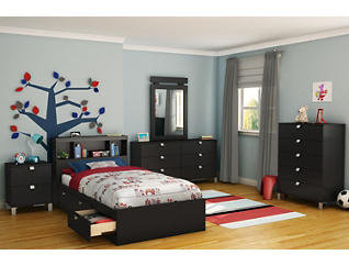 Spark Twin Black Mates Bed, , large