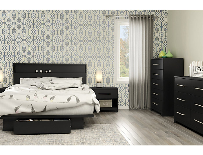 Primo Queen Black Headboard, , large
