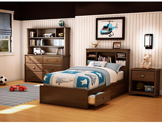 Willow Cherry Twin Mates Bed, , large