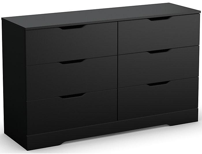Holland Black 6-Drawer Dresser, , large