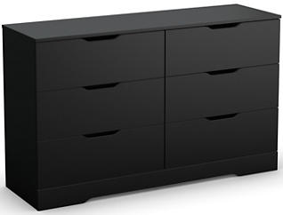 Holland Black 6-Drawer Dresser, , large