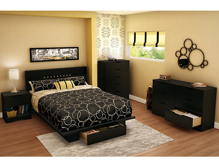 Holland Queen Black Headboard, , large