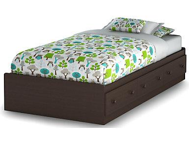 Savannah Brown Twin Mates Bed, , large